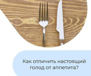 аппетит и голод